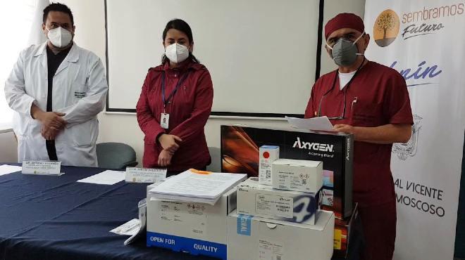 Es la primera entrega de un total de 15.000 pruebas PCR.
