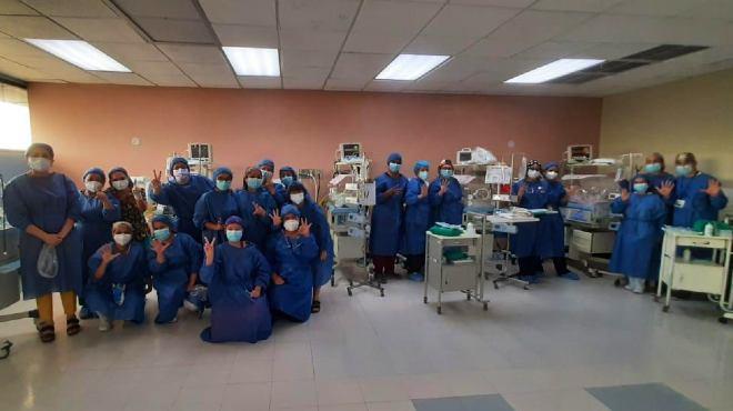 Personal de Neonatolog�a que particip� en el procedimiento.