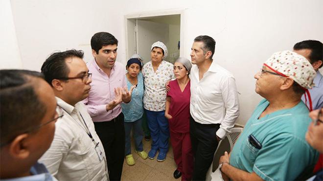 Autoridades realizaron un recorrido por las instalaciones del hospital.