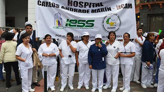 Profesionales de Enfermer�a del HCAM.
