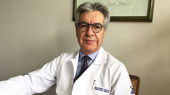 Ramiro Hidalgo, director m�dico de SOLCA Quito.
