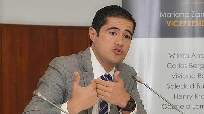 Richard Mart�nez, ministro de Econom�a y Finanzas.