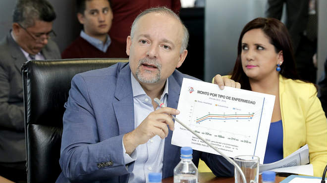 Richard Espinosa, presidente del consejo directivo del IESS