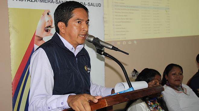 Robinson Chimbo, director distrital Pastaza Mera Santa Clara.