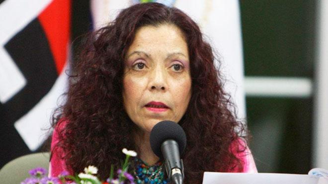 Rosario Murillo, portavoz presidencial de Nicaragua.