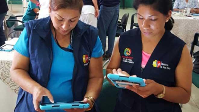 Funcionarios del MSP visitan los hogares del pa�s para aplicar la encuesta.