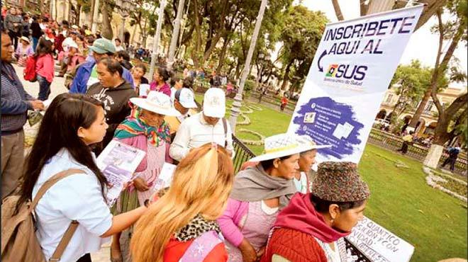 Inicia la atención y beneficios del Sistema Único de Salud en Bolivia.