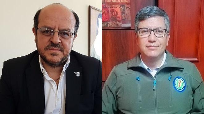 Santiago Carrasco, presidente del FME, y V�ctor �lvarez, presidente del CMP.