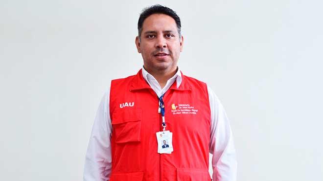 Santiago Garc�a, coordinador de Atenci�n al Usuario DEL HAGP.