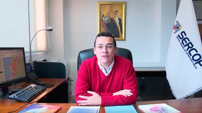 Santiago V�squez, director general del Sercop
