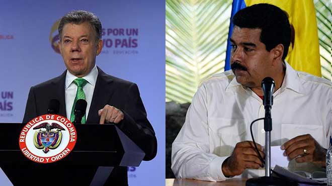 Juan Manuel Santos y Nicol�s Maduro.
