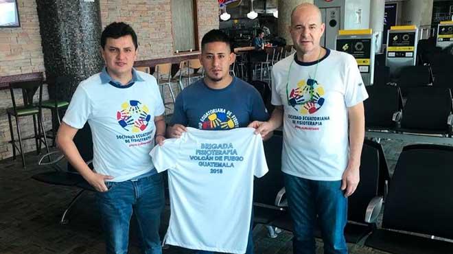 Juan Carlos Alvear, Daniel Camino y Daniel Wappenstein, Sociedad Ecuatoriana de Fisioterapia.