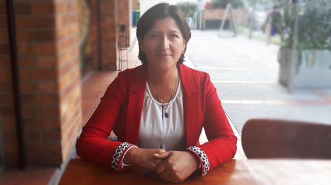 Sof�a Pozo, presidente de la Asociaci�n de Empleados y Trabajadores de Planta Central del MSP.