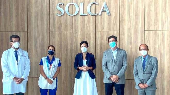 La vicepresidenta de la Rep�blica mantuvo una reuni�n con los directivos de SOLCA.