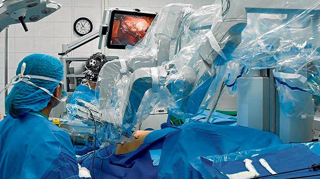 Se emple� el robot Da Vinci.