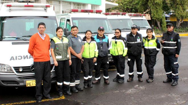 Miembros del equipo de 'Trasnporte Medicalizado'.