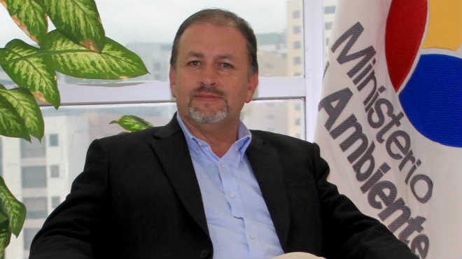 Tarsicio Granizo, ministro de Ambiente.