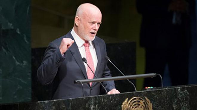 Thomson Peter, presidente sesión de la ONU.