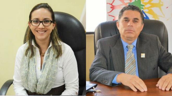 Ver�nica Espinosa, ministra de Salud y Rub�n Chiriboga, director ejecutivo del INDOT.