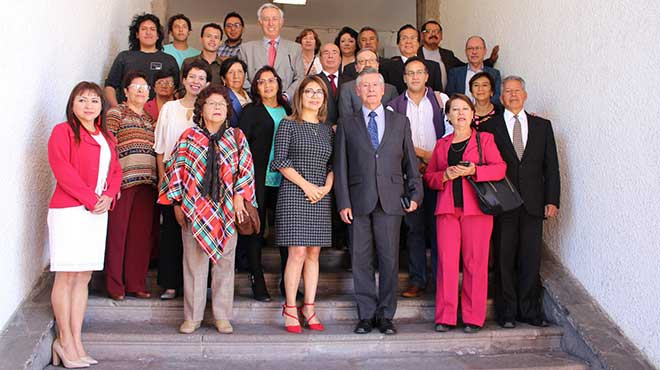 Representantes de la UCE y el Patronato Municipal San Jos�.