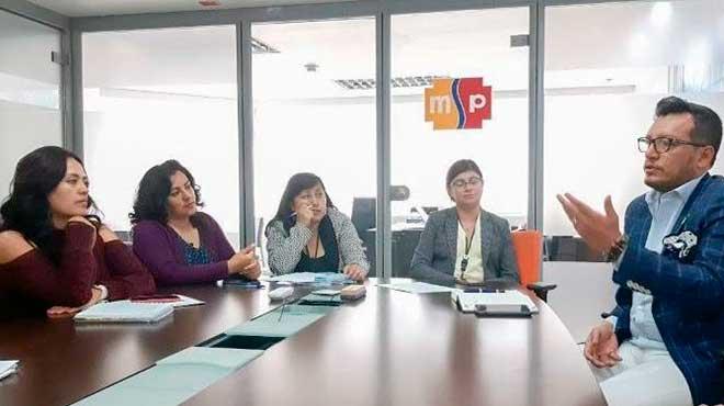 Reuni�n entre funcionarios de la Secretar�a de Salud del Municipio de Quito y del MSP.