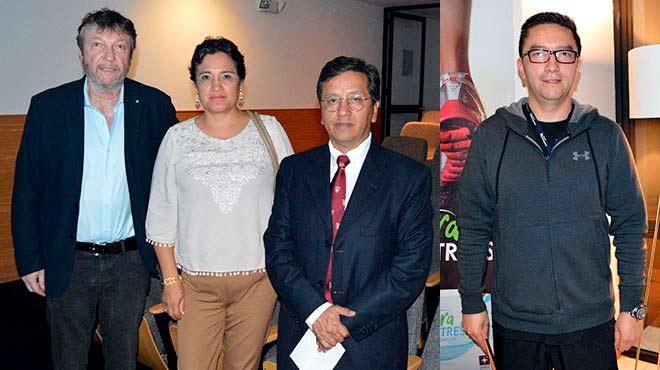 Marco Fornacini, M�nica Vaca y Manuel Balde�n, investigadores UTE. David Cabrera, m�dico deport�logo.