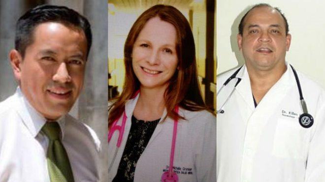 Alfredo Valarezo, Michelle Grunauer, Killen Briones.