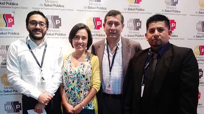Fernando Naranjo, Grace Loza, Alberto Castillo y Jos� Pilligua, m�dicos tratantes del HEEE