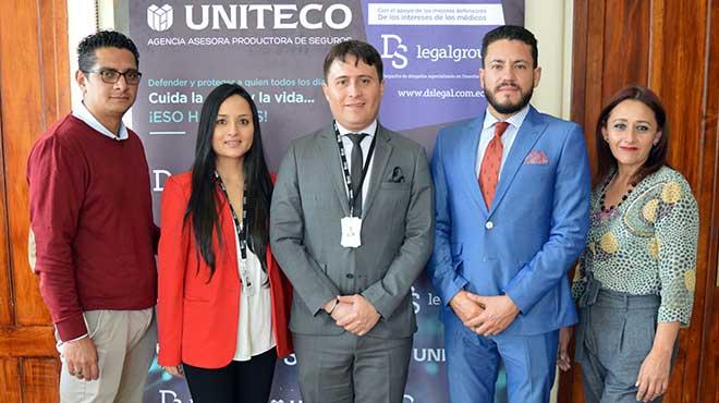 Diego Espinosa, Karina Guam�n, Patricio Gal�rraga, Santiago Castro y Viviana Cuesta, Uniteco Ecuador.