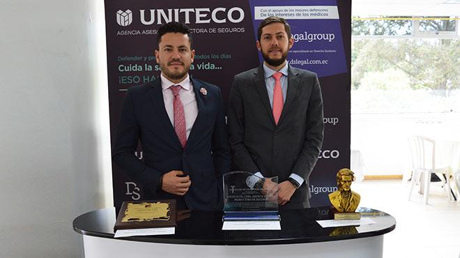 Santiago Castro, gerente general de Uniteco en Ecuador, y Daniel Soto, director de DS Legal Group Ecuador.