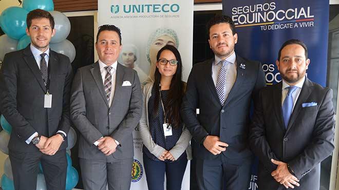 Daniel Soto (DS Legal Group), Patricio Galarraga (Uniteco), Karina Guam�n (Uniteco), Santiago Castro (Uniteco) y Jorge S�nchez (Uniteco).
