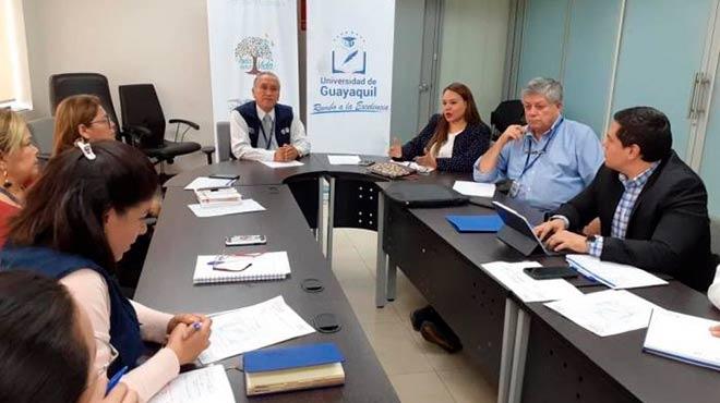 Reuni�n de trabajo entre funcionarios de la Universidad de Guayaquil y el MSP.