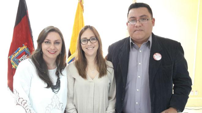 Jackeline Calle, Ver�nica Espinosa y Xavier C�rdova.