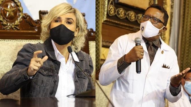 Cynthia Viteri y Wilson Tenorio.