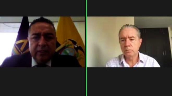 Ra�l Delgado, presidente de AME, y Juan Carlos Zevallos, ministro de Salud.