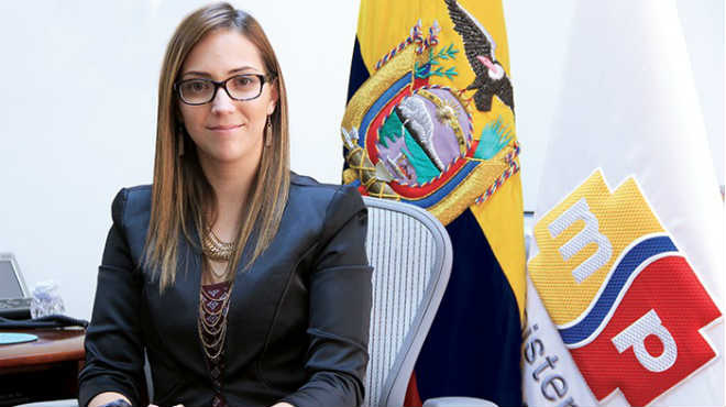Verónica Espinosa, ministra de Salud