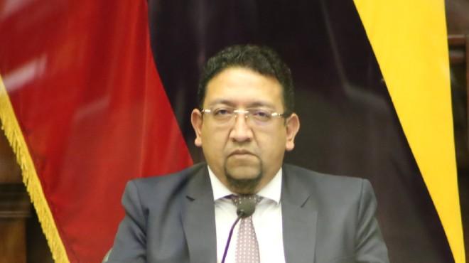 Virgilio Saquicela, primer vicepresidente de la Asamblea.