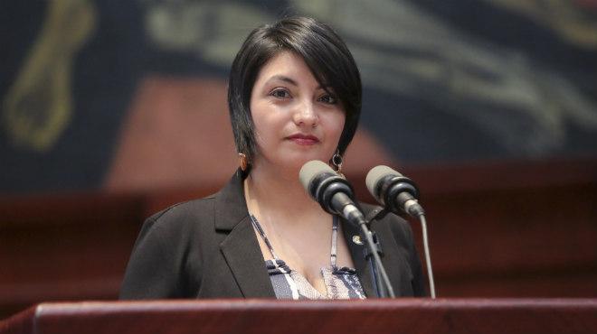 Wannia Espinoza, del Frente Parlamentario Juvenil Ecuador Sin Hambre.