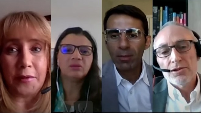 Francesca Carvajal (MSD), Graciela Morales (Pfizer), Aymant Chit (Saofi Pasteur), Jose Bacaltchuk (Janssen).