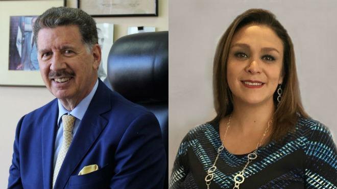 Roberto Aspiazu del Comit� Empresarial y Cristina Murgueitio de ASEDIM.