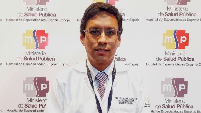 William Acosta, endocrin�logo del Hospital de Especialidades Eugenio Espejo.