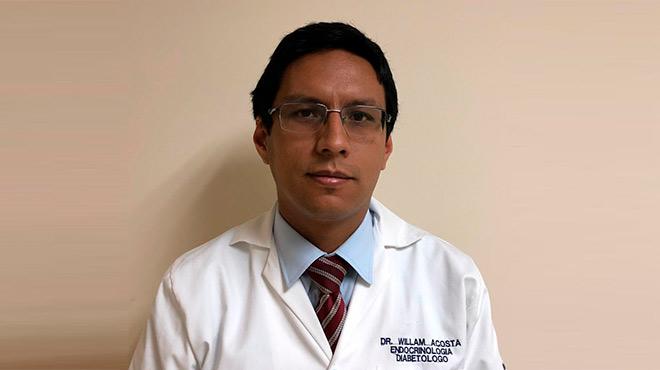 William Acosta, especialista en Endocrinolog�a y Diabetolog�a.