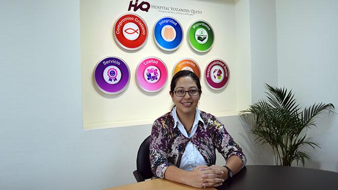 Katherine Rosero, subdirectora de Educaci�n M�dica del Hospital Vozandes Quito.
