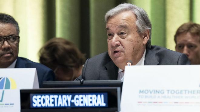 Secretario General de la ONU, Ant�nio Guterres.