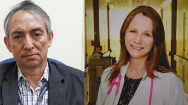 Hugo Romo y Michelle Grunauer.