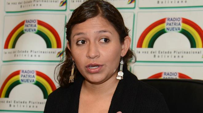 Ariana Campero, ministra de Salud de Bolivia.