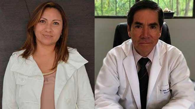 Mar�a Isabel Arias, directora m�dica de GSK y Galo Pes�ntez, director del Centro Nacional de Epilepsia.