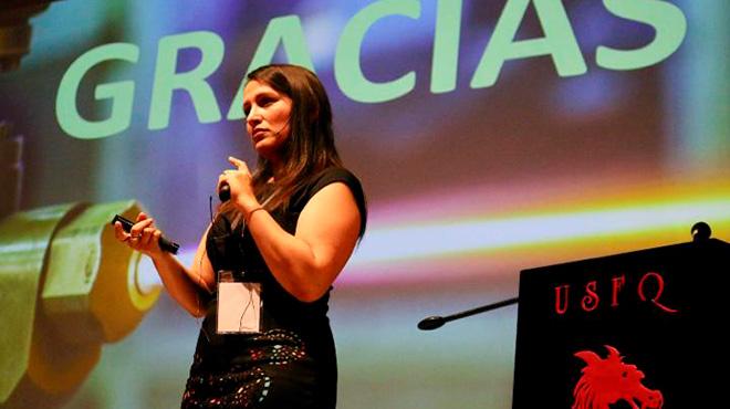 Astrid Giraldo, investigadora del Cinvestav Quer�taro.