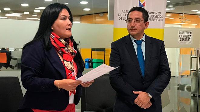 Catalina Andrmu�o y Augusto Garc�a.