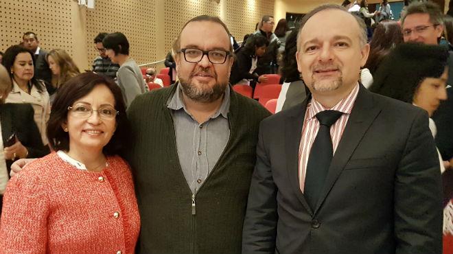Margarita Guevara, Freddy Pa�afiel y Richard Espinosa.